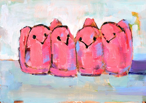 """Easter Peeps"" original fine art by Kevin Inman"