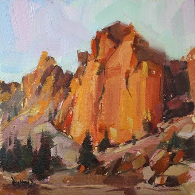 """Smith Rock Evening Glow"" original fine art by Cathleen Rehfeld"
