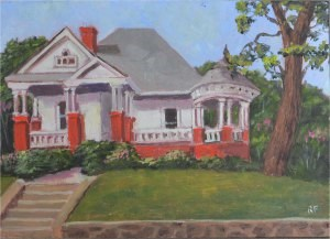 """House on the Hill"" original fine art by Robert Frankis"