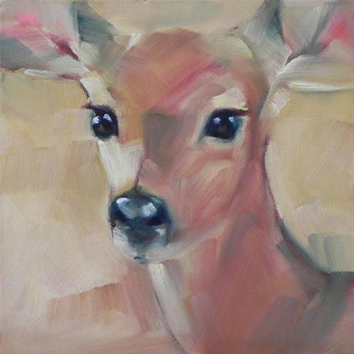 """Young Deer"" original fine art by Cheryl Wilson"
