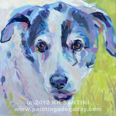 """Greta"" original fine art by Kimberly Santini"