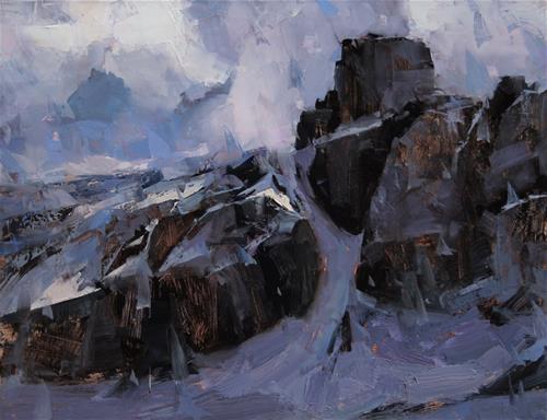 """The Mountain"" original fine art by Tibor Nagy"