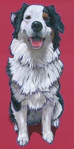 """Australian Shepherd"" original fine art by Nadi Spencer"