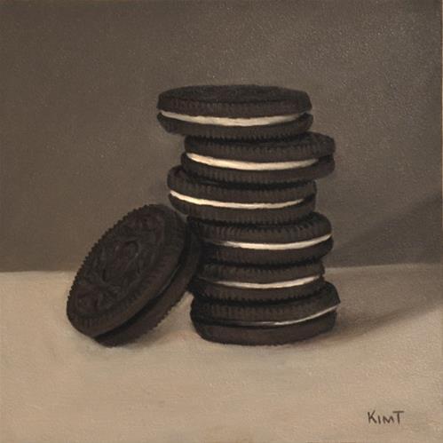 """Cookie Stack"" original fine art by Kim Testone"