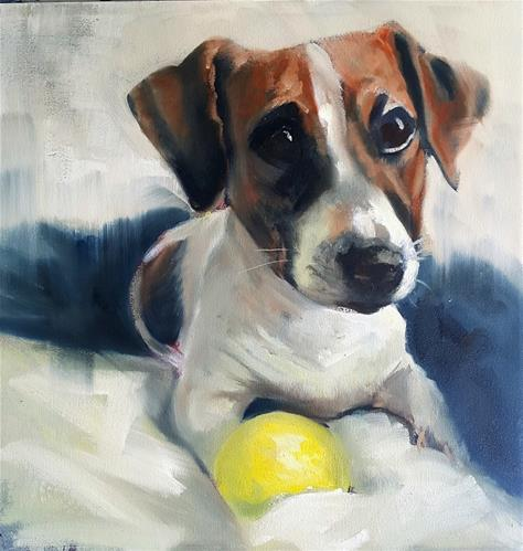 """Diggy"" original fine art by Rentia Coetzee"