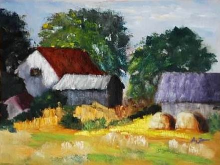 """Texas Farmcountry"" original fine art by Liz Zornes"