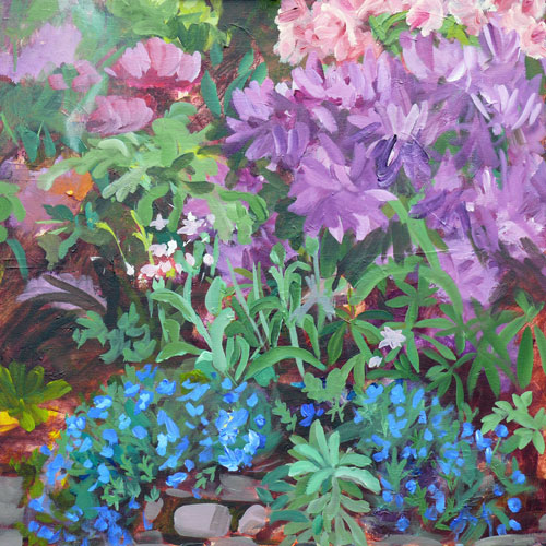 """Bonny's Garden"" original fine art by Darlene Young"