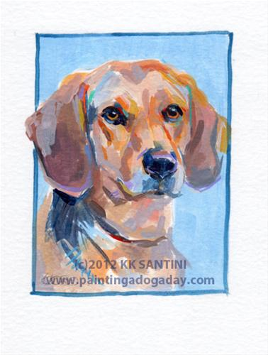 """Mo, A Painted Sketch"" original fine art by Kimberly Santini"