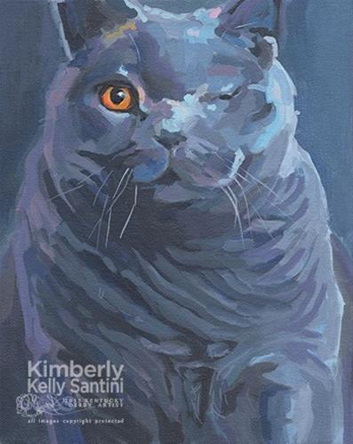 """Kisa"" original fine art by Kimberly Santini"
