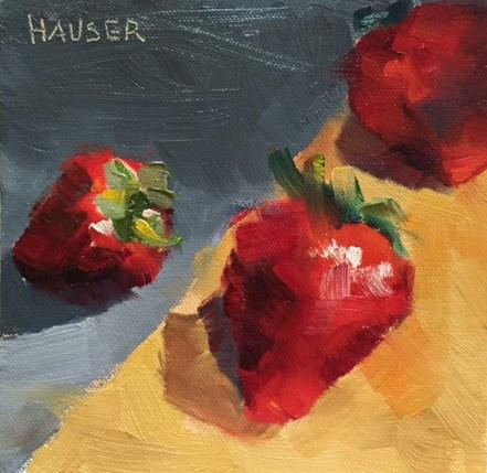 """Strawberry Day"" original fine art by Alice Hauser"