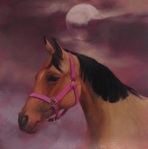 """""""Moon Over Marla"""" original fine art by Diane Hoeptner"""