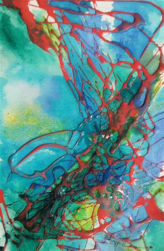 """Busting Out"" original fine art by Becky Chappell"
