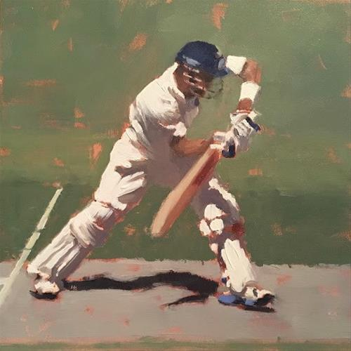 """BATSMAN SERIES #2"" original fine art by Helen Cooper"