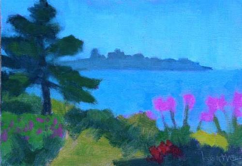"""Betsy's Garden"" original fine art by Bobbi Heath"