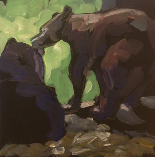 """Nuzzle"" original fine art by Kat Corrigan"