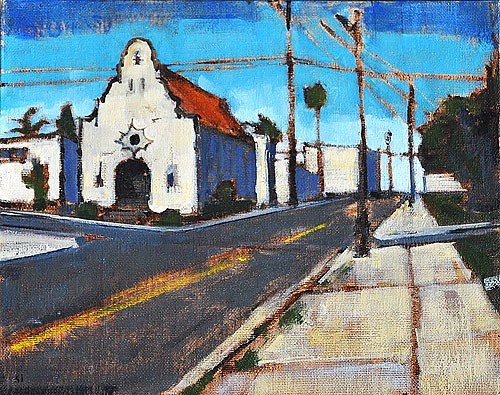 """Church on Normal Street, Hillcrest"" original fine art by Kevin Inman"