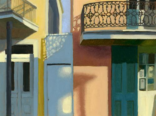 """SUN AND SHADOW IN NEW ORLEANS"" original fine art by Nancy Herman"
