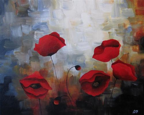 """Poppy Ensemble"" original fine art by ~ces~ Christine E. S. Code"