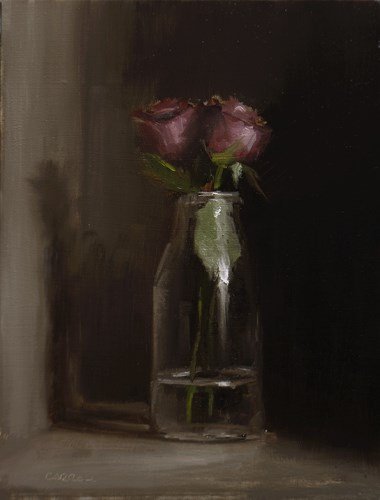"""Bottle of Roses"" original fine art by Neil Carroll"