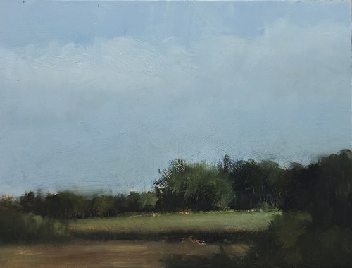 """Top Field"" original fine art by Neil Carroll"