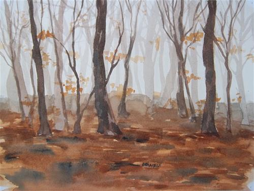 """Forest Fog"" original fine art by Becky Chappell"