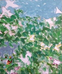 """Hiding in the Garden"" original fine art by Rachel  Holland"