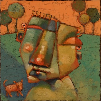 """Walk Dogger"" original fine art by Brenda York"