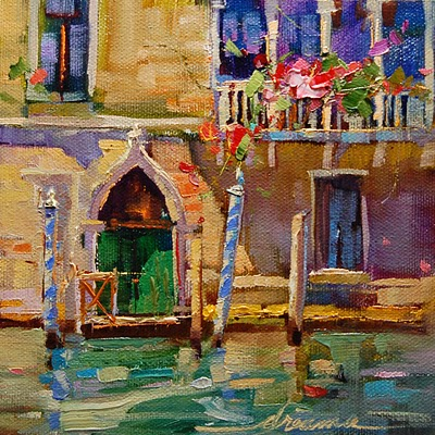 """Venice Blue SOLD"" original fine art by Dreama Tolle Perry"