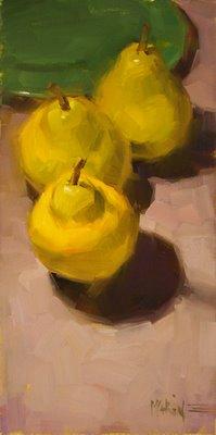 """pears"" original fine art by Carol Marine"