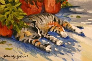 """Made in the Shade"" original fine art by JoAnne Perez Robinson"