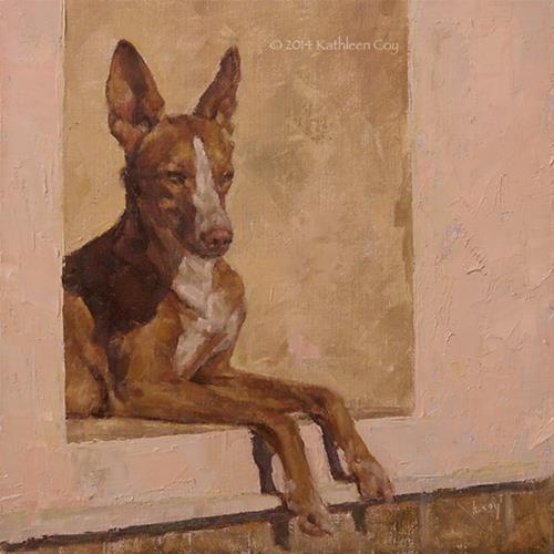 """48 - Podenco"" original fine art by Kathleen Coy"