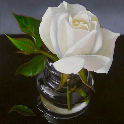 """Rose 4x4"" original fine art by M Collier"