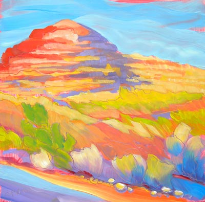 """Canyon Dreams 30"" original fine art by Pam Van Londen"