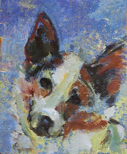 Sweet Doggy Contemporary Dog Portraits by Arizona Artist Amy Whitehouse original fine art by Amy Whitehouse