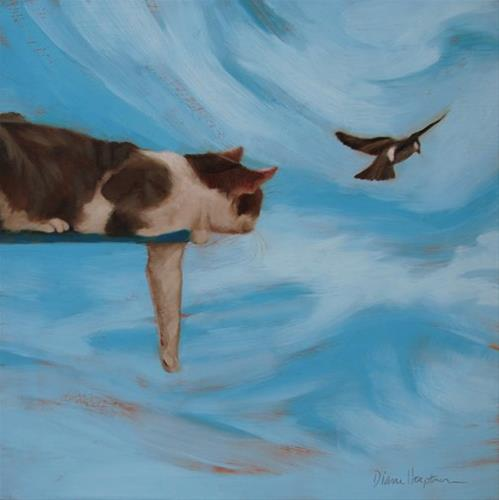 """Sky Cat"" original fine art by Diane Hoeptner"