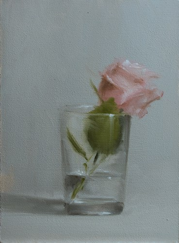 """Rose in Glass"" original fine art by Neil Carroll"