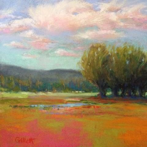 """Happy Little Clouds"" original fine art by Cindy Gillett"