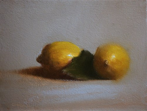 """Two Lemons"" original fine art by Neil Carroll"