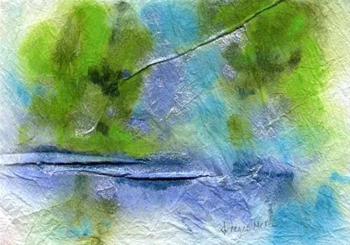 """""""By the Water #1"""" original fine art by Arlayne McKee"""