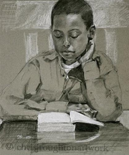 """Daka"" original fine art by C J Roughton"