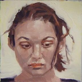 """""""FACE.-IT.  #9"""" original fine art by Helen Cooper"""