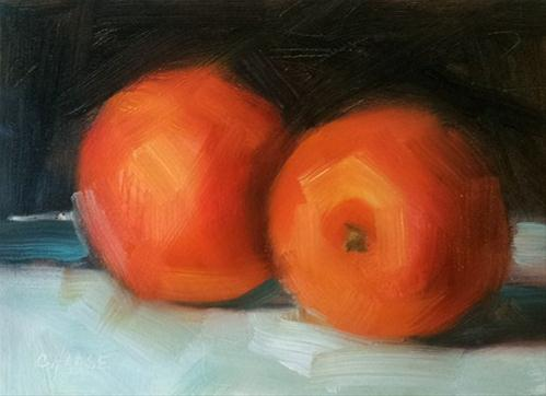 """Navel Oranges"" original fine art by Cindy Haase"