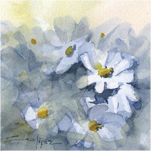 """""""flores 28"""" original fine art by Emilio López"""
