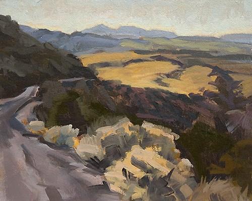 """""""Mogollon, New Mexico"""" original fine art by Miriam Hill"""