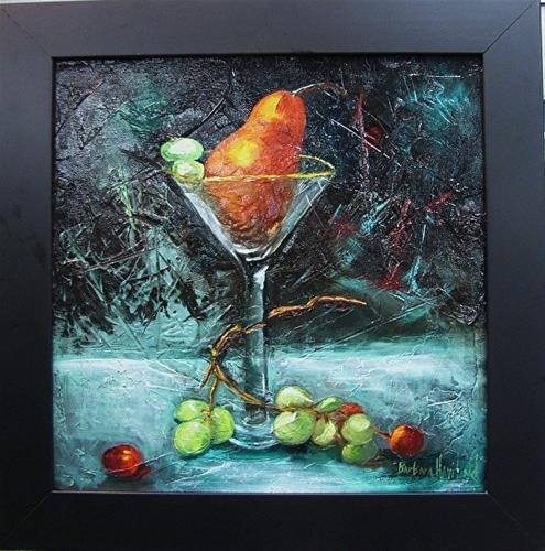 """Martinis' Anyone  Still life, grapes,glass,oil painting"" original fine art by Barbara Haviland"