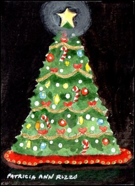 """Little Christmas Tree"" original fine art by Patricia Ann Rizzo"