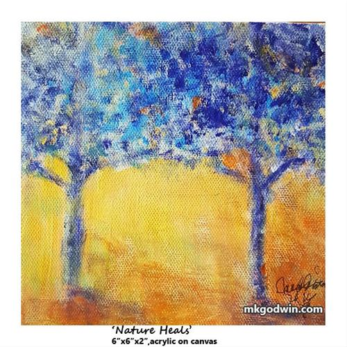 """Nature Heals"" original fine art by Marie K Godwin"