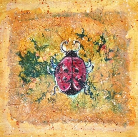 """Lady Bug"" original fine art by Margie Whittington"