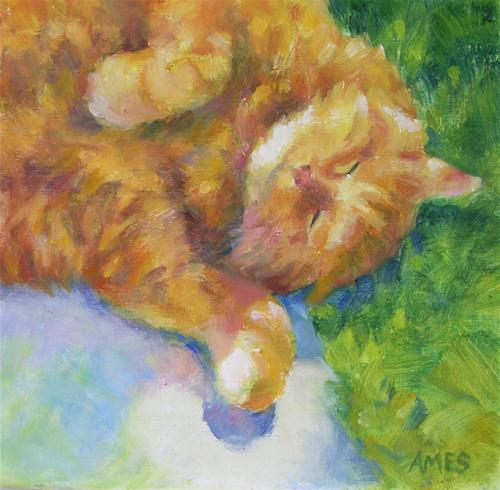 """Truman"" original fine art by Debra Ames"