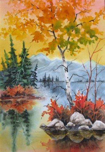 """Brilliant Fall Day"" original fine art by Horst Berlow"